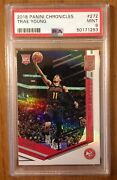 2018-19 Panini Chronicles Elite 272 Trae Young Psa 9 Rookie Rc Mint Hawks