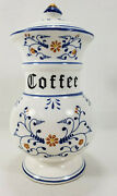 Vintage 1950s Royal Sealy Heritage Porcelain Coffee Canister