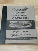Vintage 1929-1954 Chevrolet Master Parts And Accessories Catalog