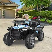 12v Kids Ride On Car Electric Toys Music 3 Speed Led Lights With Remote Control