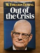 Signed Out Of The Crisis W. Edwards Deming 1992 Hcdj 19th Print Fast Shipping