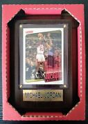 Michael Jordan Wood Frame With Gold Plated Name Plate