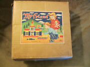 Vintage Old 1950s My Friend Educational Toys Wood Blocks In Wagon Pull Toy Mib