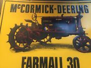 Vintage Mccormick Deering Farmall 30 Tractor Tin Embossed Metal Sign Vg Cond
