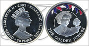 Falkland - Coins Commemorative- Year 2002 - Number Km00075a.1 - Proof 50 Peni