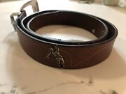 Canterbury 1996 Golf Belt, Leather With Silver Golfers Golf Balls  Used