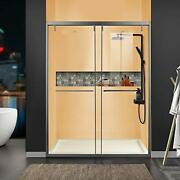Getpro Shower Doors 68-72 W 76 H Safety Laminated Glass With Ultra Soft Clo...