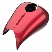 Velocity Red Sunglo Stretched Tank Cover Pinstripes For 2008+ Harley Touring
