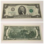 Vintage Rare 2003 Star 2 New York Two Dollar Federal Reserve Note Uncirculated
