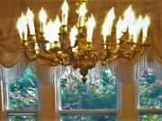 Antique 21 Light French Mid-19th Century Gilt Chandelier