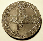 1687 Historic King James Ii Silver Crown Cgs 60 Esc 78 ☆☆☆ Price Reduced ☆☆☆