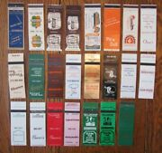 Morton Grove, Illinois Lot Of 23 Different Matchbook Matchcovers -f