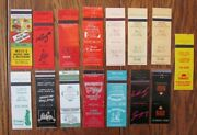 Mount Prospect, Illinois Lot Of 15 Different Matchbook Matchcovers -f