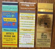 Yonkers New York Lot Of 3 Different Matchbook Matchcovers -g