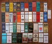 Raleigh, North Carolina Lot Of 45 Different Matchbook Matchcovers -f