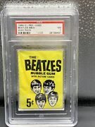 1964 Beatles Bandw Unopened Card Wax Pack O-pee-chee Topps - Psa 7