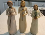 Willow Tree Lot Of 3 Figures Gratefulwelcomeand Love 8 And 9