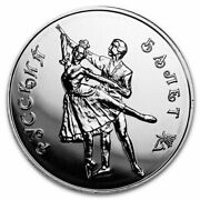 20 1993 3 Rouble Ruble Russian Ballet .900 Silver Bu Coins 20 Troy Ounces Asw
