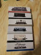 High Speed Metal Products. Lot Of 6 N Scale Train Cars. Engine To Caboose