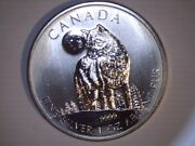 2011 5 Canada Timber Wolf, Uncirculated, .9999 Fine 1 Oz Silver, Us-7657