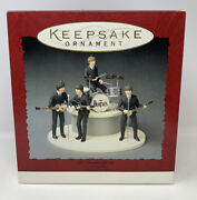 Hallmark Ornament 1994 The Beatles Gift Set Of 5 Ornaments Microphones And Stand