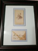 Ira D. Sankey Signed 1894 Cdv And Autograph Card Dwight D. L. Moody Singer