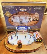 Mr Christmas Gold Label World's Fair Skating Rink Tested And Works W/ Box