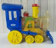 Vintage 1974 Ideal Toys Lil Toot Wind Up Whistling Train Works Good