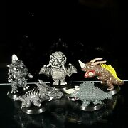 1966 Monster Godzilla Toys Mini Figure Collection From P.china Vintage Set Of 5