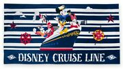 New Captain Mickey Mouse And Friends Beach Towel – Disney Cruise Line
