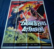 Destroy All Monsters French Movie Poster Original 4763 1968