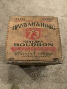 1910-1914 John Roach Hannah And Hogg Kentucky Whiskey Wood Crate Pre Prohibition