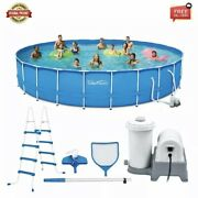 Summer Waves 24 Ft Active Frame Round Above Ground Swimming Pool Us Suppliers