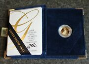 2008 W 1/10 Ounce 5 Gold Proof Eagle With Box And Coa