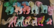 Vintage My Little Pony Mlp Lot Of 11 W/ Case G1 And 2 G2and039s No Wings All Need Tlc