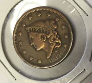 1837 Large 1 Cent Penny Error