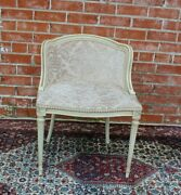 French Antique Louis Xvi Make Up Upholstered Chair / New Upholstery