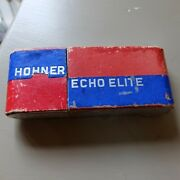 Vintage Art Deco M. Hohner Echo Elite Harmonica In Box Made In Germany  1930