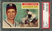 1956 Topps 312 Andy Pafko Psa 6 Ex-mt