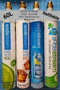 Lot Of Four4four Empty 60l Sodastream Co2 Carbonator 14.5oz Cylinder Ships Ups