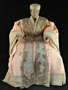 Vintage Handcrafted Seated Chinese Dower Empress W/court Robes . 14 5/8andrdquo T.