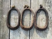 Vintage Herters Duck Decoy Weights Anchors No. 87 Lot Of 3