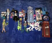 Monster High Doll Lot Used Huge Beds Dolls And Loose Accessories Retired