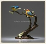 8and039and039 Bronze Colored Drawing Crafts Alcedo Atthis Bengalensis Birds Statue