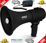 Portable Compact Pa Megaphone Speaker With Alarm Siren And Adjustable Volume - 50w