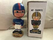 Vintage 1960and039s Nfl Bobblehead W/ Box New York Giants Japan Pro-novelty Chicago