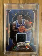 Zion Williamson 2019 Panini Black Friday Cracked Ice Relic Rc 1/25 His Jersey