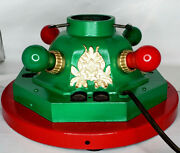 Vintage Cast Iron Light Up Electric Christmas Tree Stand 1930's