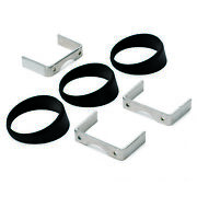 Autometer Gauge Mount Angle Rings Black 3 Pieces For 2 5/8in Gauges 3244