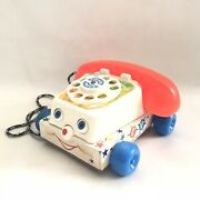 Old Vintage Fisher Price Pre School Pull Toy Chatter Phone 1961 Made In England